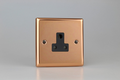 Varilight Polished Copper 1-Gang 5A Round Pin Socket - XYRP5AB.CU